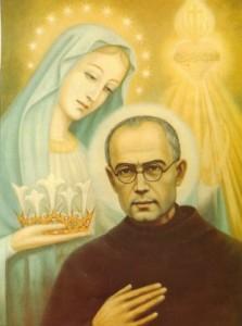 saint maximilien kolbe avec marie